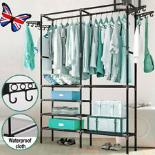 Heavy Duty Clothes Rail Rack Hanging Garment Display Stand Shoe Storage Shelf UK