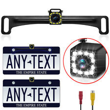 Backup Camera Car Rear View Reverse Night Vision Parking License Plate 12LED Kit