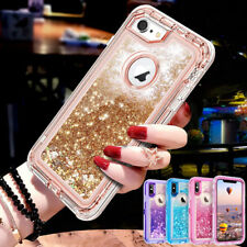 360° Liquid Glitter Bling Heavy Duty Case Cover For iPhone Xs XR Xs Max 7 8 Plus