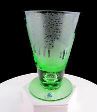 """LEEK GERMANY DECEPTIVE BASE GREEN ETCHED TORSA'S FOLKSKOLAN 5"""" PILSNER GLASS"""