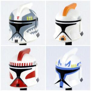 Custom CLONE TROOPER HELMET Phase 1 for  Minifigures -Pick Color!- Star Wars