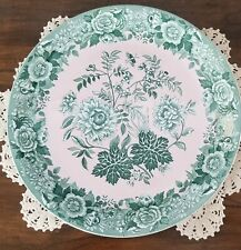 "Spode Jasmine Archive Collection 12 3/4"" Pink and Green Floral Platter"