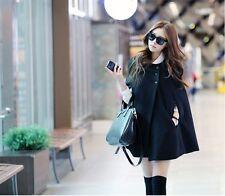 Korean Fashion Women's Cloak Casual Coat Jacket Top Black
