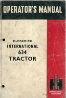 McCormick International Tractor 634 Operators Manual