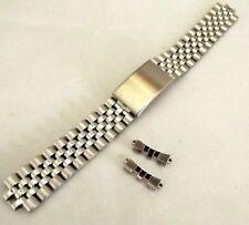 bracciale jubilee orologi acciaio compatibile rolex ansa curva 19 mm