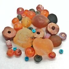 Rare Bulk Lot Of Ancient Bead Artifacts From Asia & Europe - Stone Agate Etc