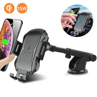 Auto 15W Fast Car Wireless Charger Holder Mount For iPhone 11 PRO MAX XR Samsung