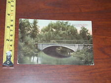 POSTCARD RARE VINTAGE DUTCH TOWN BRIDGE ALBION MICHIGAN 1919