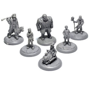 6x Figures Miniatures For Awful Orphanage Board Game Kickstarter Role Play Model