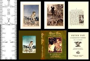1:6 SCALE MINIATURE BOOK PETER PAN KENSINGTON GARDENS RACKHAM PLAYSCALE BARBIE