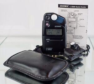 Sekonic Flashmate L-308S with Lumidisc, Soft case+ strap ,giude. Fully tested .