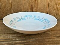 "Royal China Blue Heaven 9 1/2"" Serving Bowl Atomic Retro Mid-Century Modern"