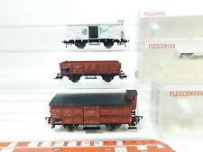 bj116-0,5 # 3x Fleischmann H0 / DC Vagón de mercancía DRG : 5208+5357 Pilsner +