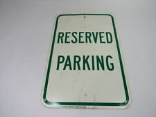 "Seton Reserved Parking Metal Sign 12X18"" ! WOW !"