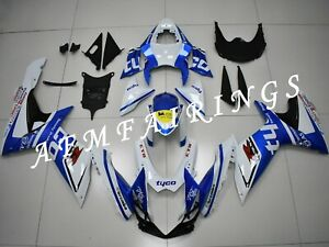 Blue White Tyco ABS Injection Mold Bodywork Fairing Kit for GSXR600/750 11-18