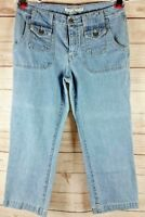 Vintage Tommy Hilfiger Women's Jeans Cropped Capris Size 6 Light Wash Denim