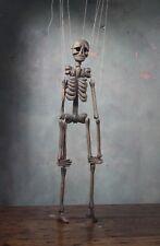 19th Tiller & Clowes Marionette Trick Skeleton Memento Mori Folk Art Fairground
