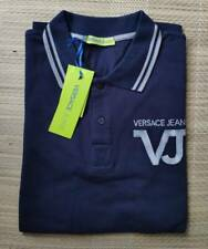 Versace Jeans men's navy polo-shirt size S(46IT) - Slim Fit, embroidered logo