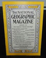 National Geographic Magazine ~ JANUARY 1952 - Chubb Crater, Cattle empire, Suez