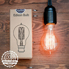EDISON Bulb SQUIRREL CAGE filament 60w B22 lamp A19 cage