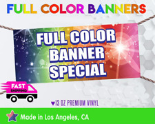 3' x 8'Full Color Custom Vinyl Banner Free Shipping sign