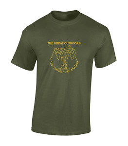 THE GREAT OUTDOORS MENS T SHIRT COOL WALKING HIKING CAMPING DESIGN CAMPERVAN