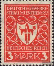 Deutsches Reich 201 postfrisch 1922 Gewerbeschau