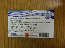 15/09/2012 Ticket: Queens Park Rangers v Chelsea  (light fold). Thanks for viewi