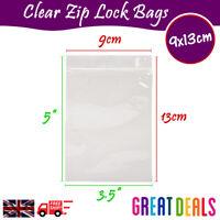 9 x 13cm Grip Seal Zip Lock Self Press Resealable Clear Plastic Bags 1 - 100,000