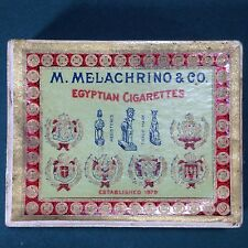 Vintage M. Melachrino And Co Cigarette Pack Box Only