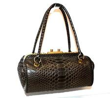 BOTTEGA VENETA Brown Python LIMITED UNIQUE Tote Bag Framed Top $2850 MINT