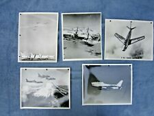 Five 8 By 10 Inch Glossy Photographs F86 Sabre Jets
