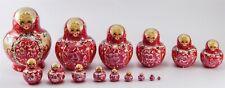Russian Nesting Stacking Dolls 15 pc Matryoshka Hand Painted & Carved Original