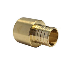 Libra Supply 1 inch, 1'' Pex to Copper, Brass Adapter, Barb x Sweat, 10 pcs