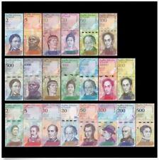 Venezuela Banknote Set 21pcs (UNC) 2 - 20000 Bolivar 全新 委内瑞拉21张 (2-20000玻利瓦尔)