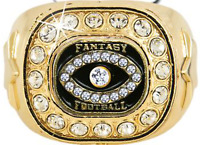 FANTASY FOOTBALL CHAMPION TROPHY RING BLING SUPER BOWL