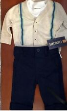 CHEROKEE Infant Boys Size 0-3 M~ -3 Piece Set-Cardigan,Pants,One Piece Top-NWT