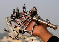 Nautical KELVIN & HUGHES Solid Brass Astrolabe Working Sextant Maritime Decor
