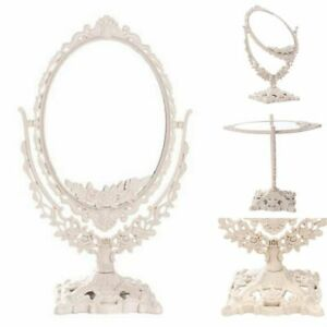 Freestanding Double Sided Ornate Vanity Mirror Dressing Accessories Gift Kit New