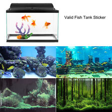 PVC Aquarium Background Poster Fish Tank Wall Decorations Sticker Landscape