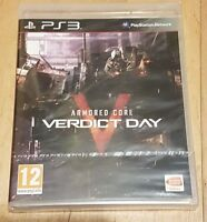 Armored Core Verdict Day- Playstation 3 - PS3 UK Pal New Factory Sealed