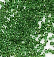 Rocailles Perlen 2mm Glas Grün Transparent 450g Schmuck Basteln Seed Beads A68