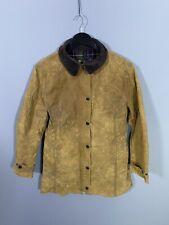 BARBOUR NEWMARKET Wax Jacket - Size UK16 - Beige - Great Condition - Women's