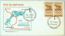 67987 - ITALY - POSTAL HISTORY - SPECIAL COVER: 1960 Olympic Games Siracusa