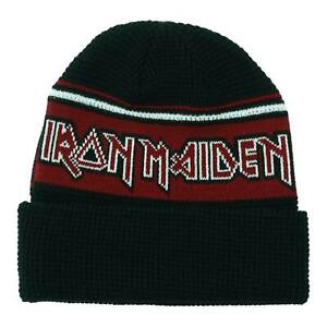 Iron Maiden Logo Metal Classic Rock Music Band Black Knit Beanie Hat KC11935IM