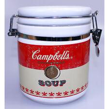 Campbells Soup Aufbewahrungs Vorratsdose Tee Kaffee Vorrats Dose Bügelverschluss