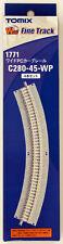 Tomix 1771 Wide Pc 280mm Radius 45º Curve Track C280-45-Wp(F) (4 pcs.) (N scale)