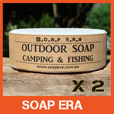 2 x Outdoor Soap- 100% Coconut oil - biodegradable for camping use  salt water