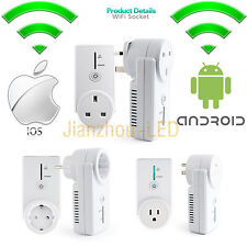 HomePlug Wall Smart WiFi Timing Socket Remote Cell Phone Apple Android Switch EU