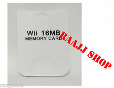 NEW 16MB MEMORY CARD DATA STORAGE FOR NINTENDO WII & GAMECUBE UK SELLER